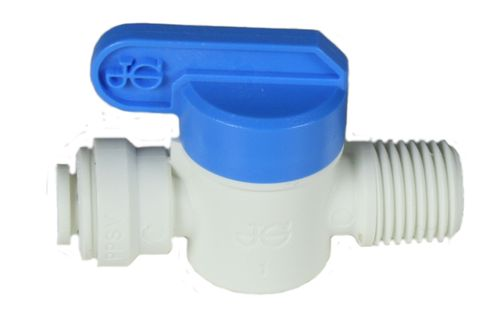 PP push fit fitting: ball valve - tube/thread