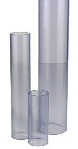 PVC tube, thin walled, transparent