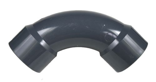 PVC fitting: bend injection molded