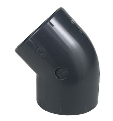 PVC fitting: elbow 45°