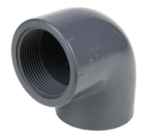 PVC fitting: elbow with 1 female thread