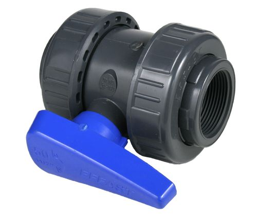 PVC ball valve with threads